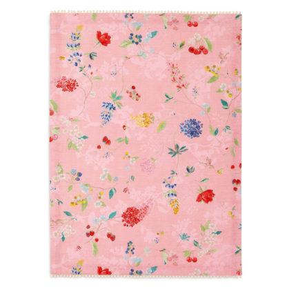 """Kaunis pinkki Pip Studion keittiöpyyhe """"Hummingbirds Pink"""" kuosilla. Ihana vaaleanpunainen pyyhe on 50 x 70 cm ja se on 100% puuvillaa."""