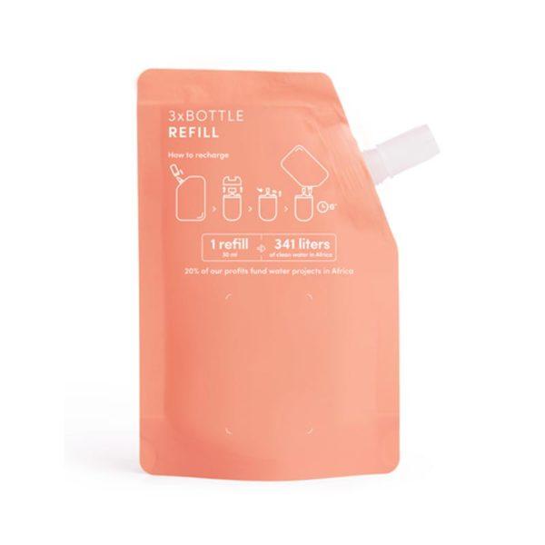 Haan käsidesin täyttöpakkaus Sunset Fleurissa on naisellinen kukkainen tuoksu. Tästä täyttöpussista voit täyttää HAAN täytettävän taskukokoisen käsidesin yli kolme kertaa.
