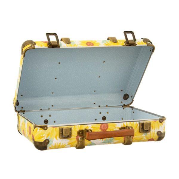 Sass & Bellen hauska keltainen matkalaukku sisustukseen ja ihanien aarteiden säilytykseen.