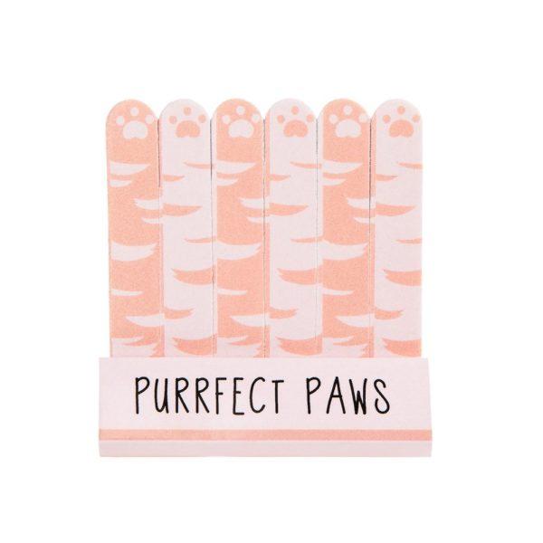Sass & Bellen söpöt vaaleanpunaiset minikynsiviilat kissantassukuvioinnilla. 6 kappaleen setti.