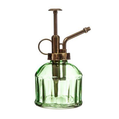 Sass & Bellen söpö vihreä lasinen suihkepullo.
