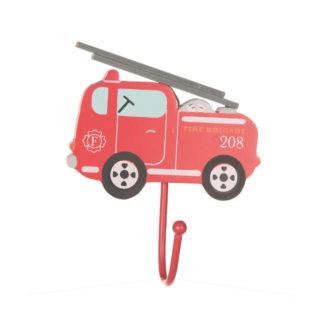 Sass & Bellen punainen paloautonmuotoinen seinäkoukku yhdellä koukulla.