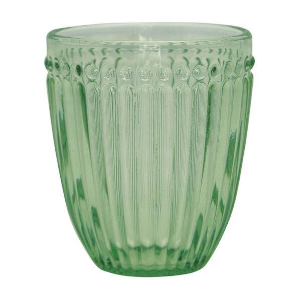 Greengaten kaunis vaaleanvihreä juomalasi on Alice-sarjaa.