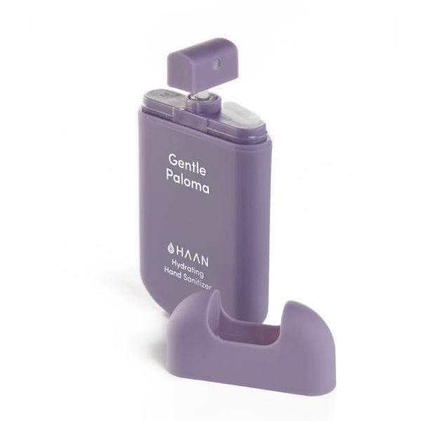 HAAN Suihkutettava 30 ml hyväntuoksuinen kosteuttava käsidesi joka sisältää myös aloe veraa. Lila raikas kukkaistuoksuinen Gentle Paloma.