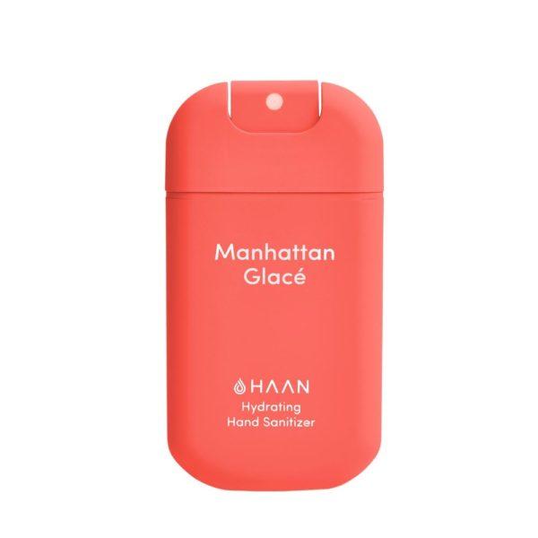 HAAN Suihkutettava 30 ml hyväntuoksuinen kosteuttava käsidesi joka sisältää myös aloe veraa. Meloninpunainen raikkaan tuoksuinen Manhattan Glacé.