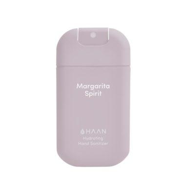 HAAN Suihkutettava 30 ml hyväntuoksuinen kosteuttava käsidesi joka sisältää myös aloe veraa. Valkoinen Raikkaan tuoksuinen ja hienostunut Margarita Spirit.