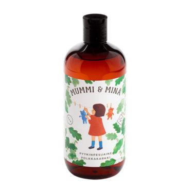 Mummi ja minä -sarjan ihanan tuoksuinen Polkkakarkki-pyykinpesuaine 475 ml pullossa..