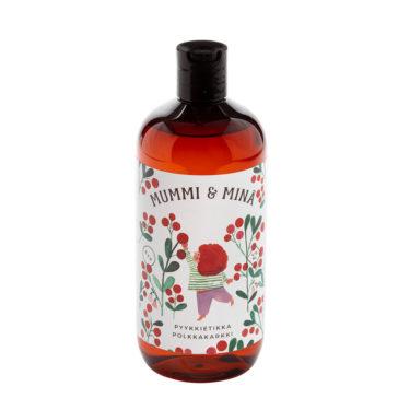 Mummi ja minä -sarjan ihanan tuoksuinen Polkkakarkki-pyykkietikka 475 ml pullossa..