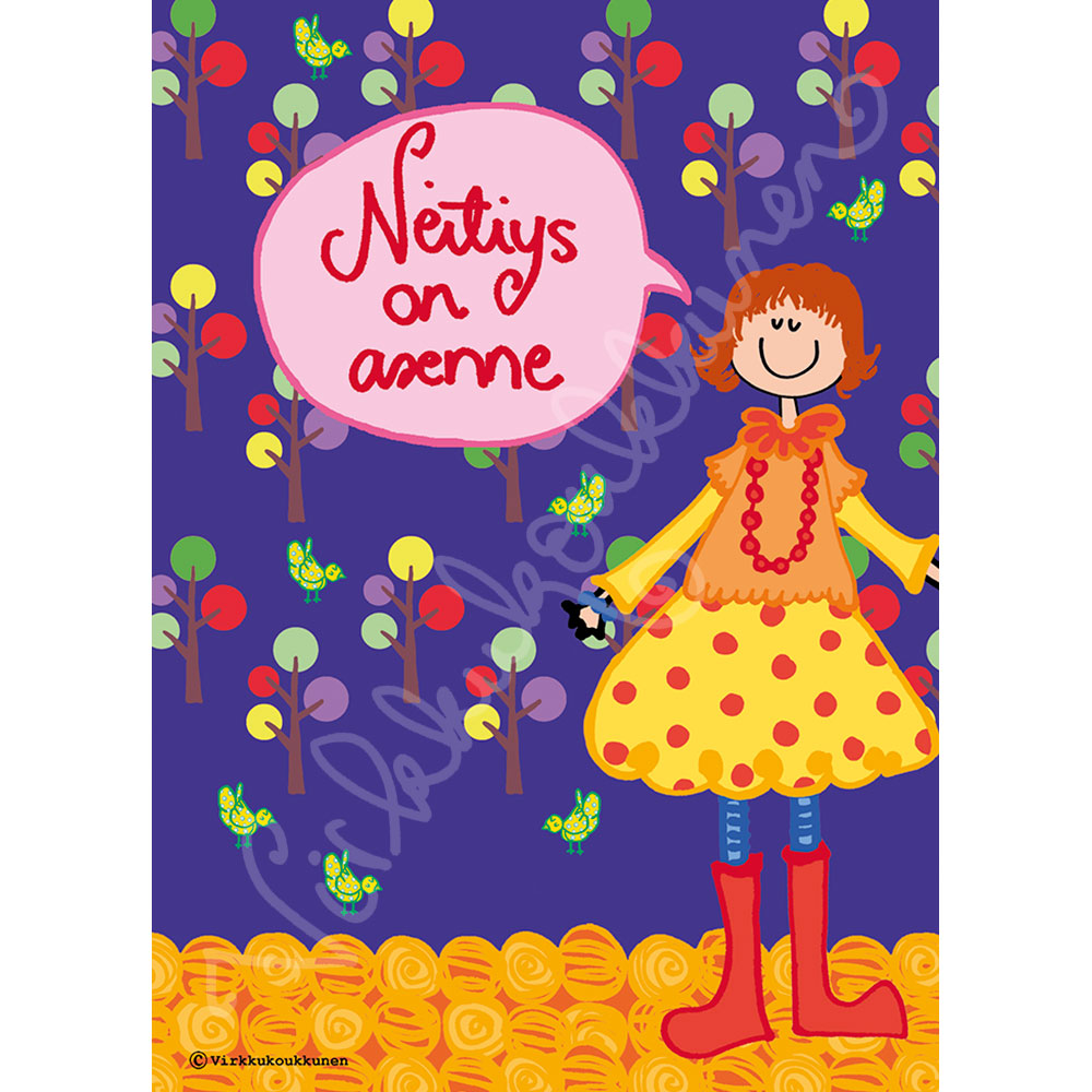 "Magnetic-kortti ""Neitiys on asenne"" 2045"