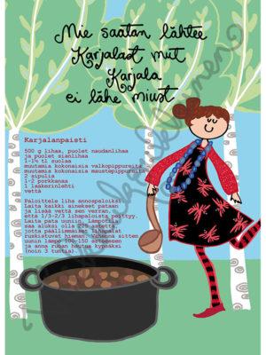 "Magnetic-kortti ""Karjalanpaisti"" 2014"