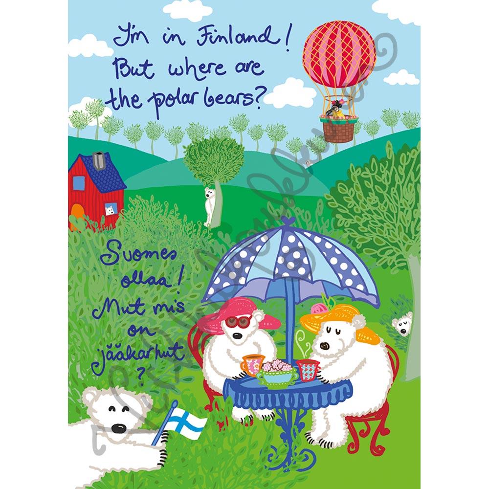 "Postikortti ""Where are the polar bears"" 256"