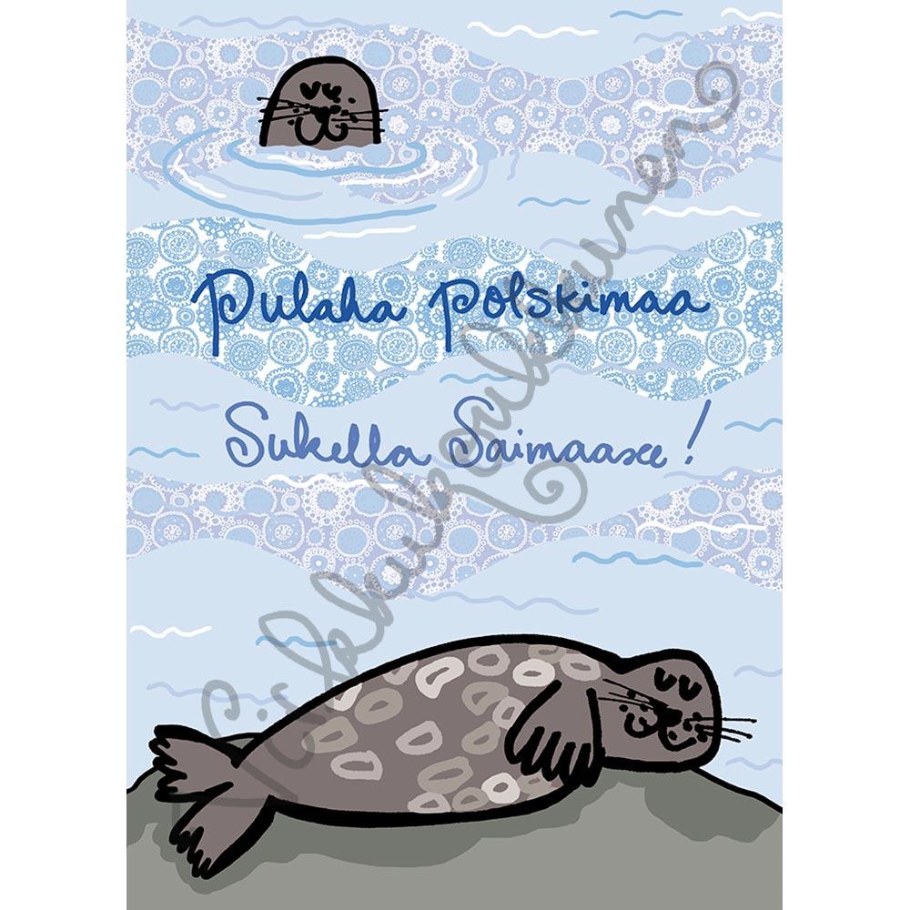 "Postikortti ""Saimaannorppa"" 207"