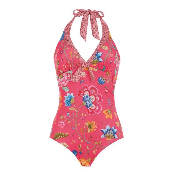 Soof Floral Fantasy tumma pinkki uimapuku