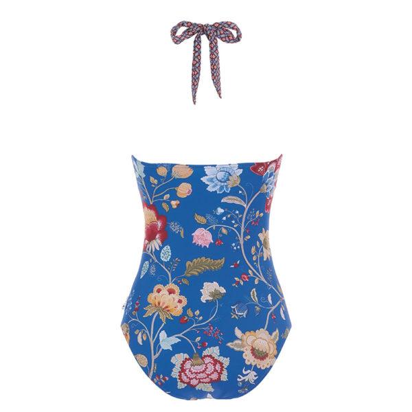 Soof Floral Fantasy tummansininen uimapuku