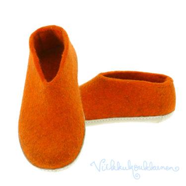 Aikuisten oranssit huopatossut