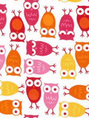 """Puuvillakangas """"Pinkki pöllö"""""""