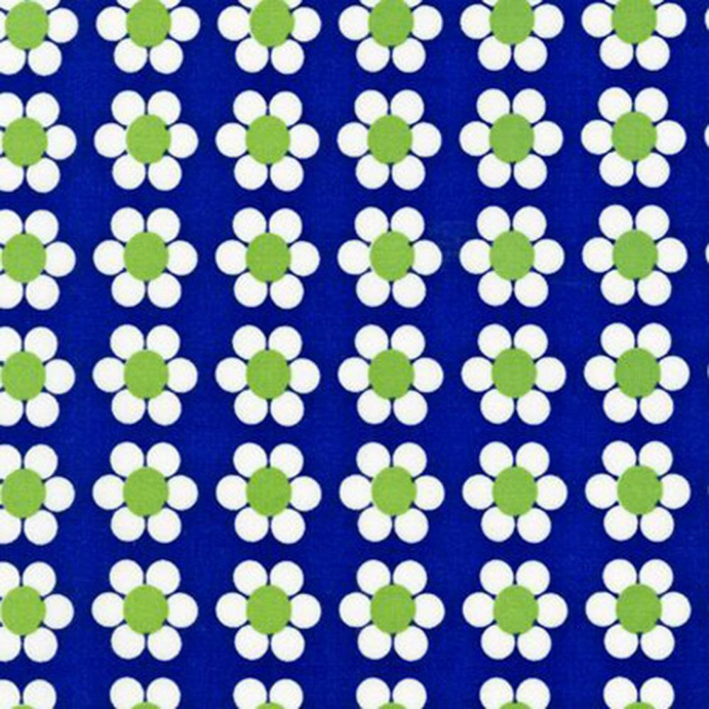 """Puuvillakangas """"Kukka"""" sininen"""