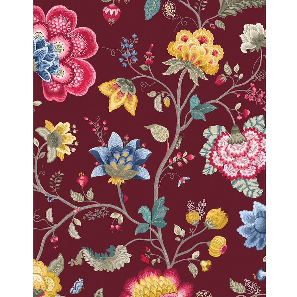 Tapetti Floral Fantasy burgundy 341033