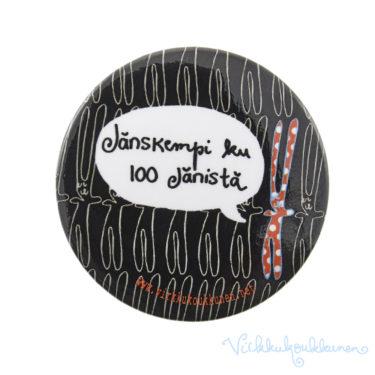 """Rintanappi """"Jänskempi ku 100 jänistä"""" (musta)"""