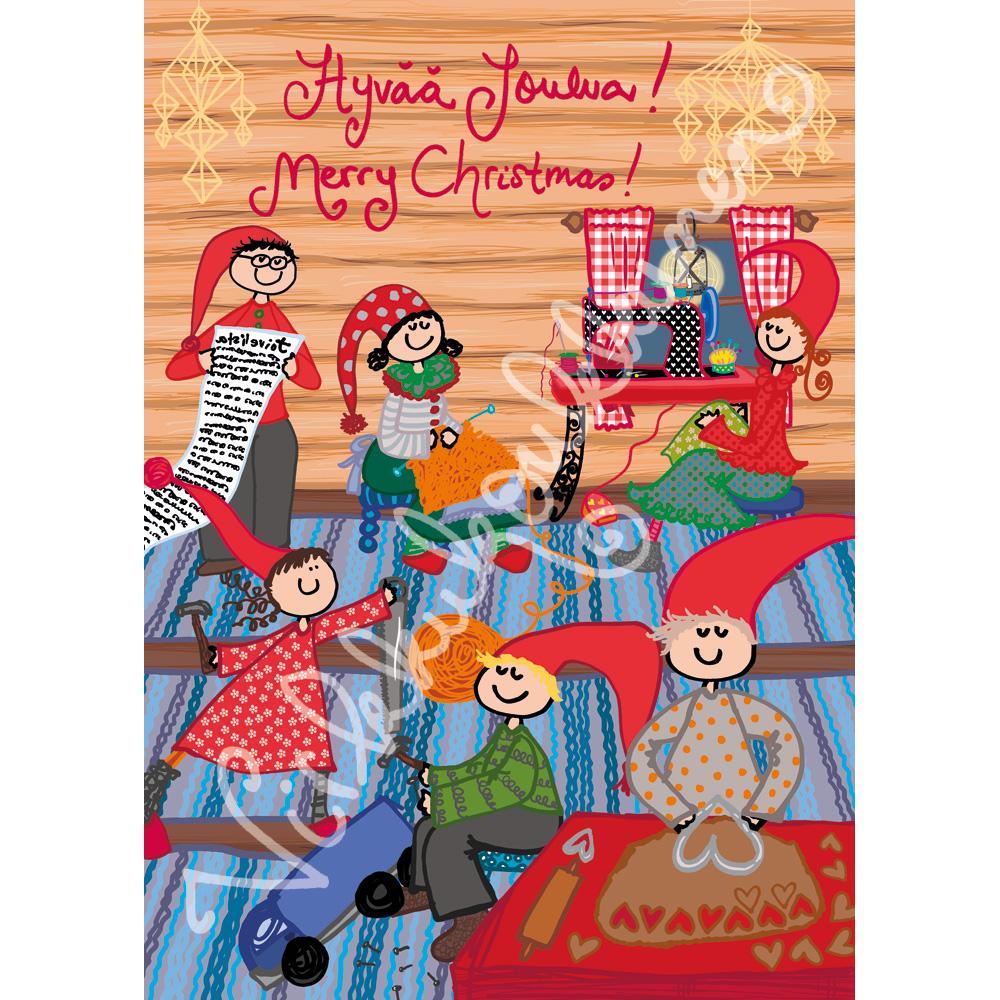 """Joulukortti """"Hyvää joulua! Merry Christmas!"""" 266"""