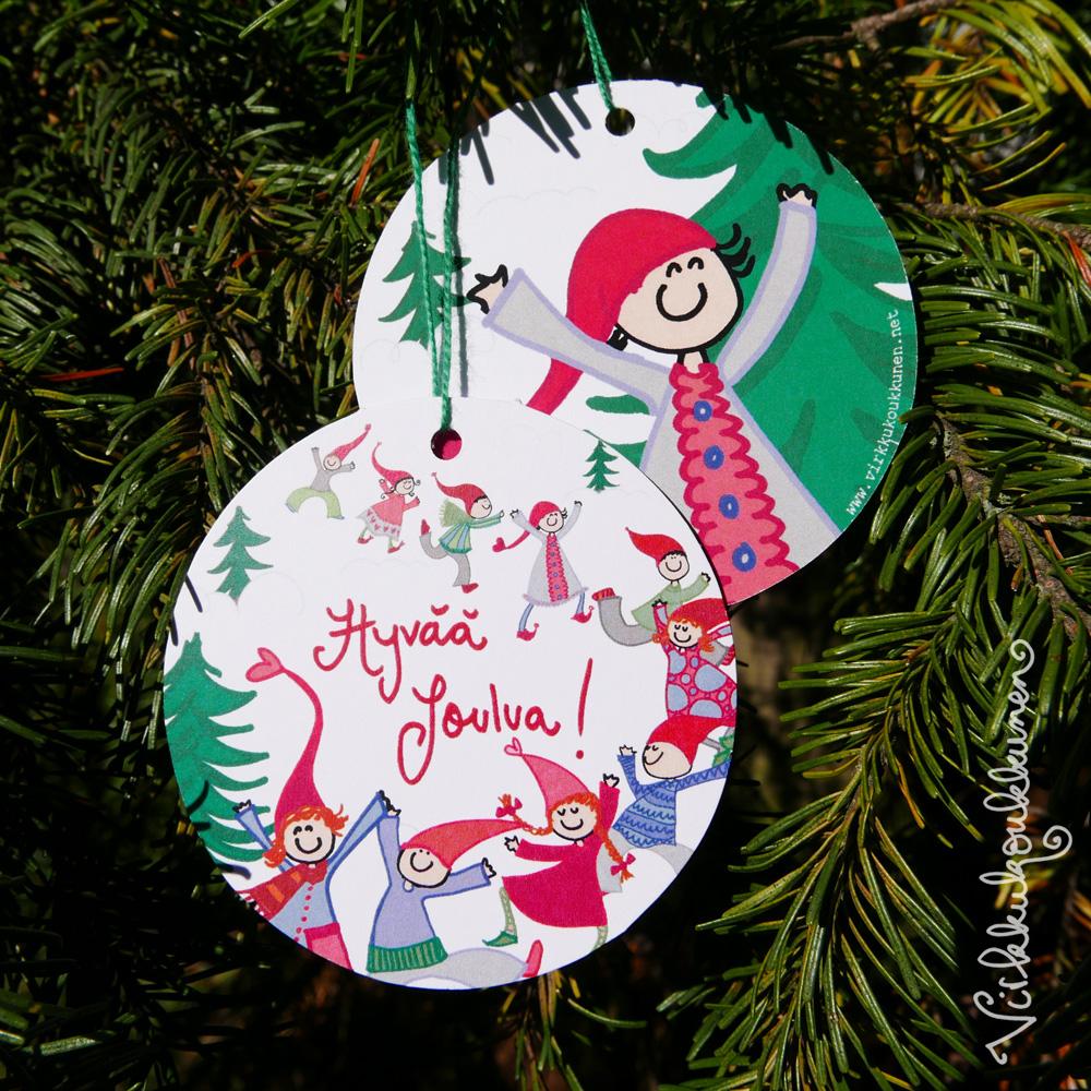 """Kuusenkoriste """"Hyvää Joulua!"""""""