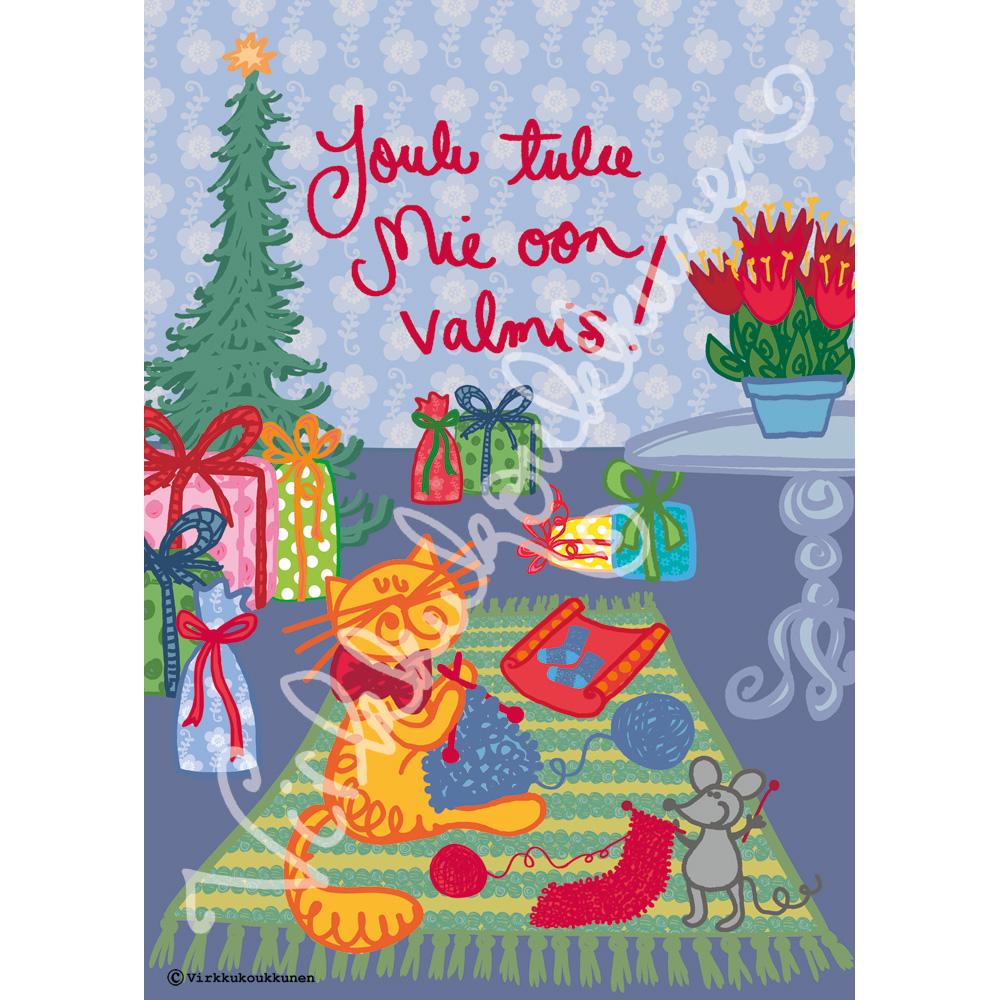 """Magnetic-kortti """"Joulu tulee Mie oon valmis!"""" 2017"""