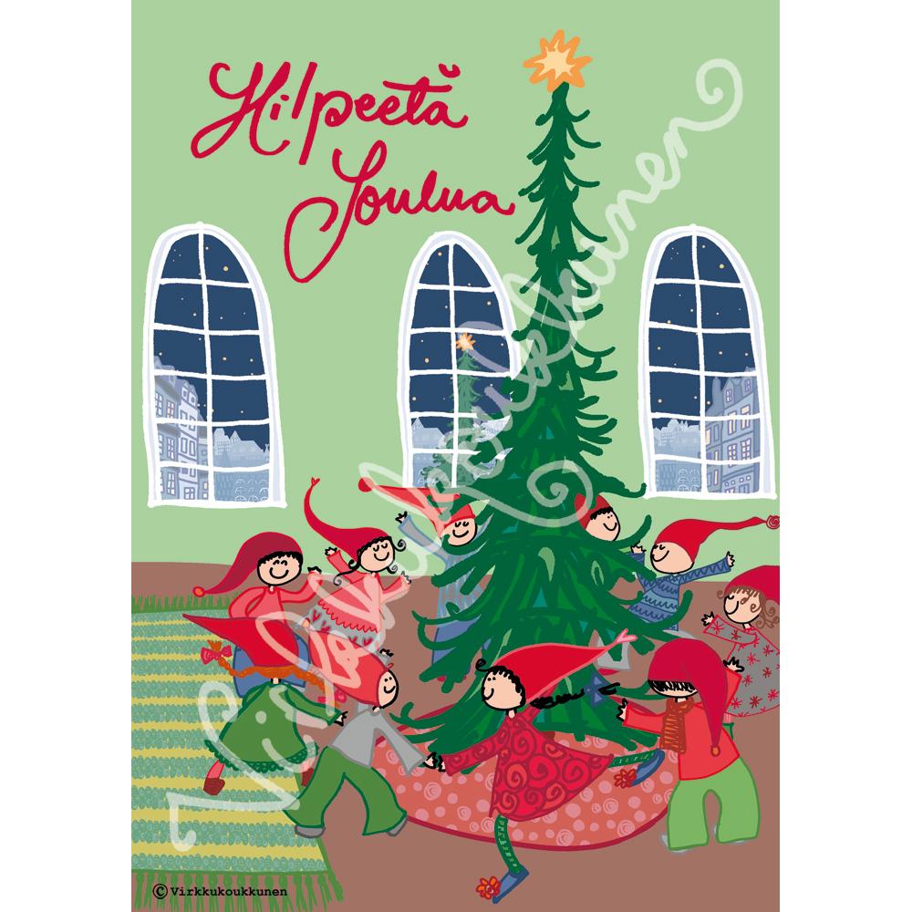 """Magnetic-kortti """"Hilpeetä Joulua"""" 2018"""
