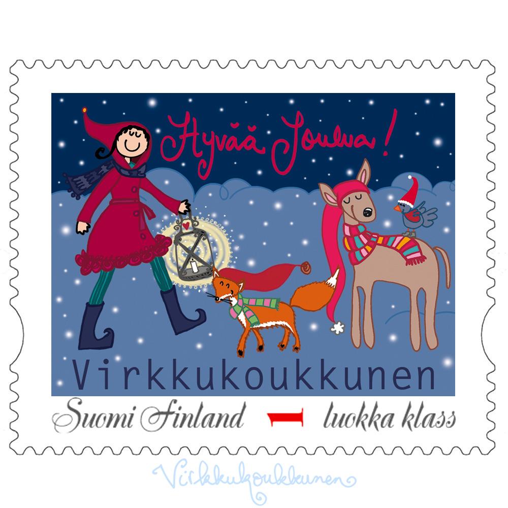 """Jouluinen postimerkki """"Hyvää Joulua!"""""""