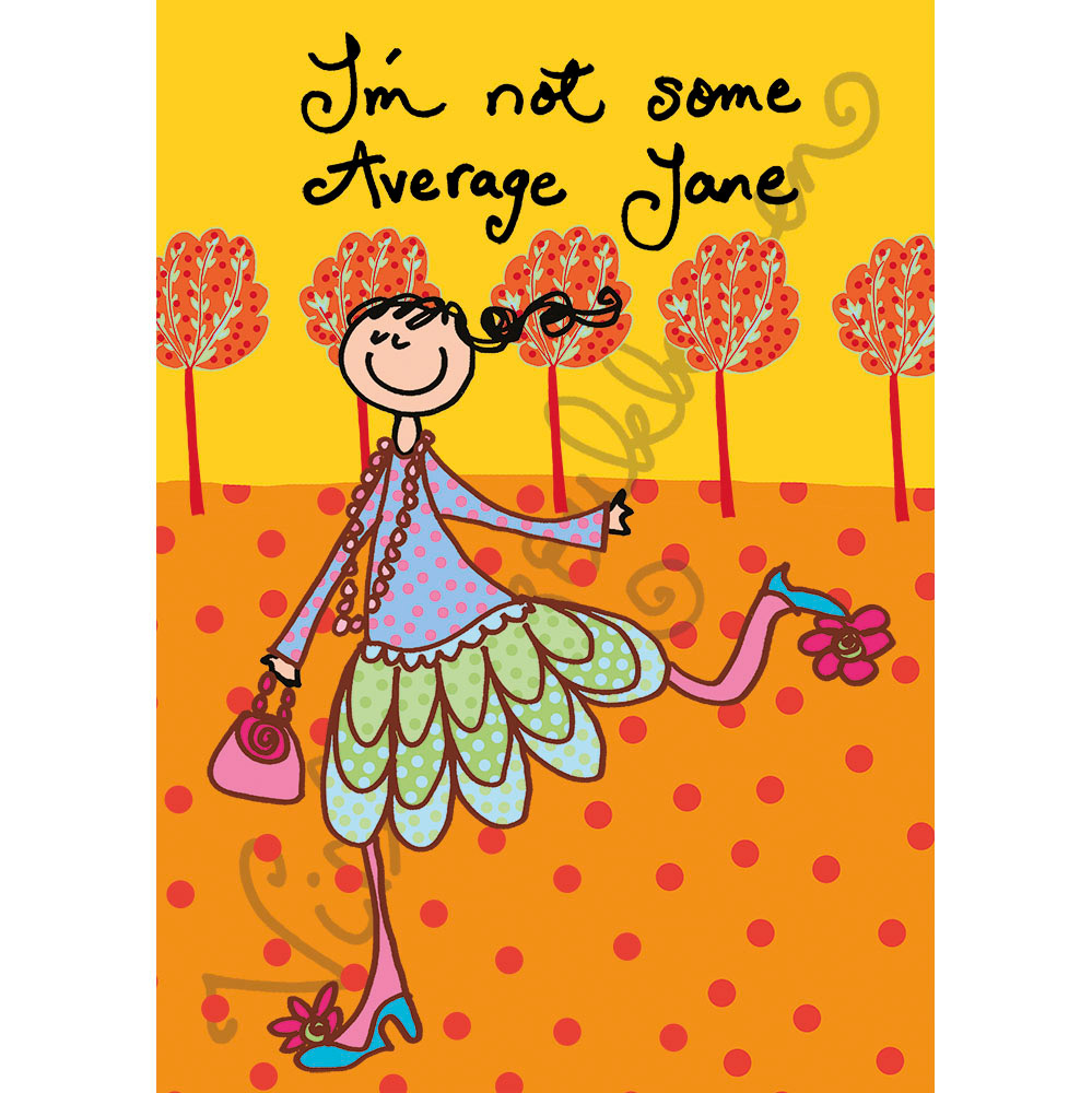 "Postikortti ""I'm not some Average Jane"" 437"