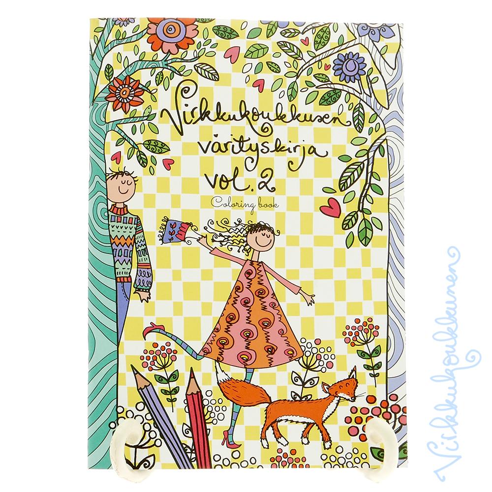 Värityskirja Vol. 2 + kortit ja Staedtlerin tuplatussit