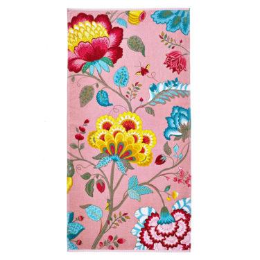 Floral Fantasy pinkki kylpypyyhe