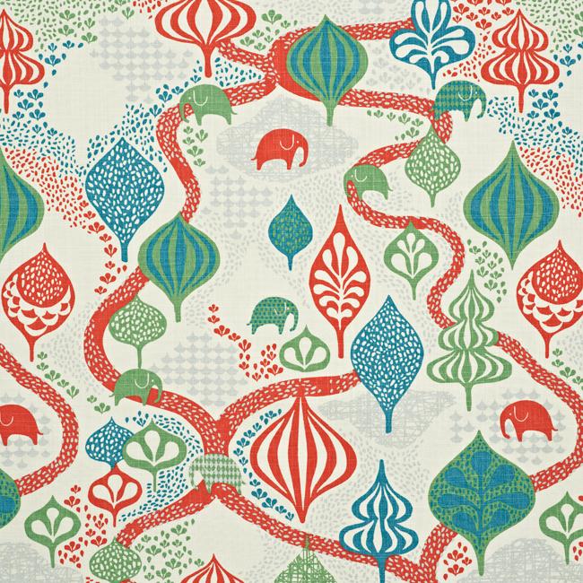 """Littlephant-kangas """"Saga forest"""" valkoinen/punainen"""