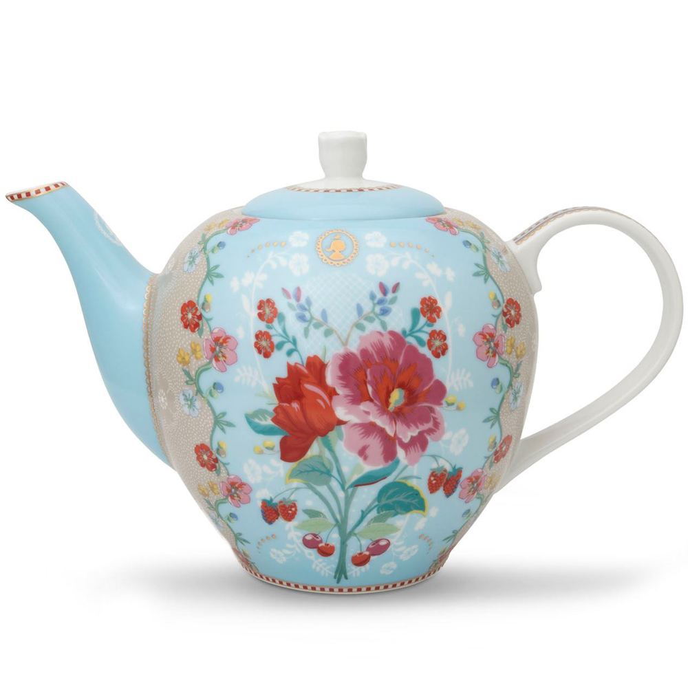 """Suuri teekannu """"Rose"""" sininen"""