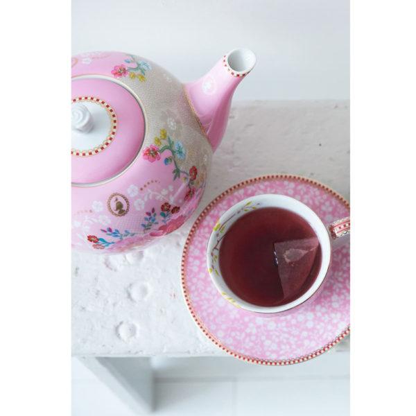 "Suuri teekannu ""Rose"" pinkki"