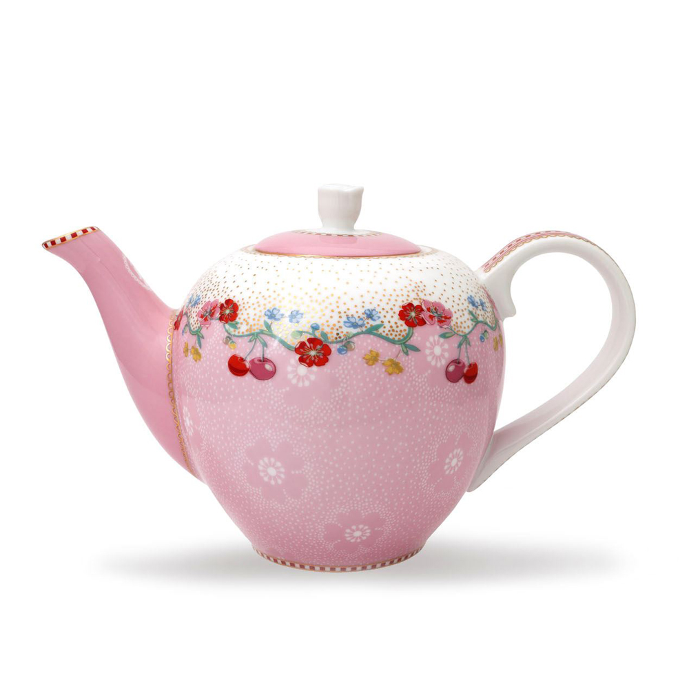 "Pieni teekannu ""Cherry"" pinkki"
