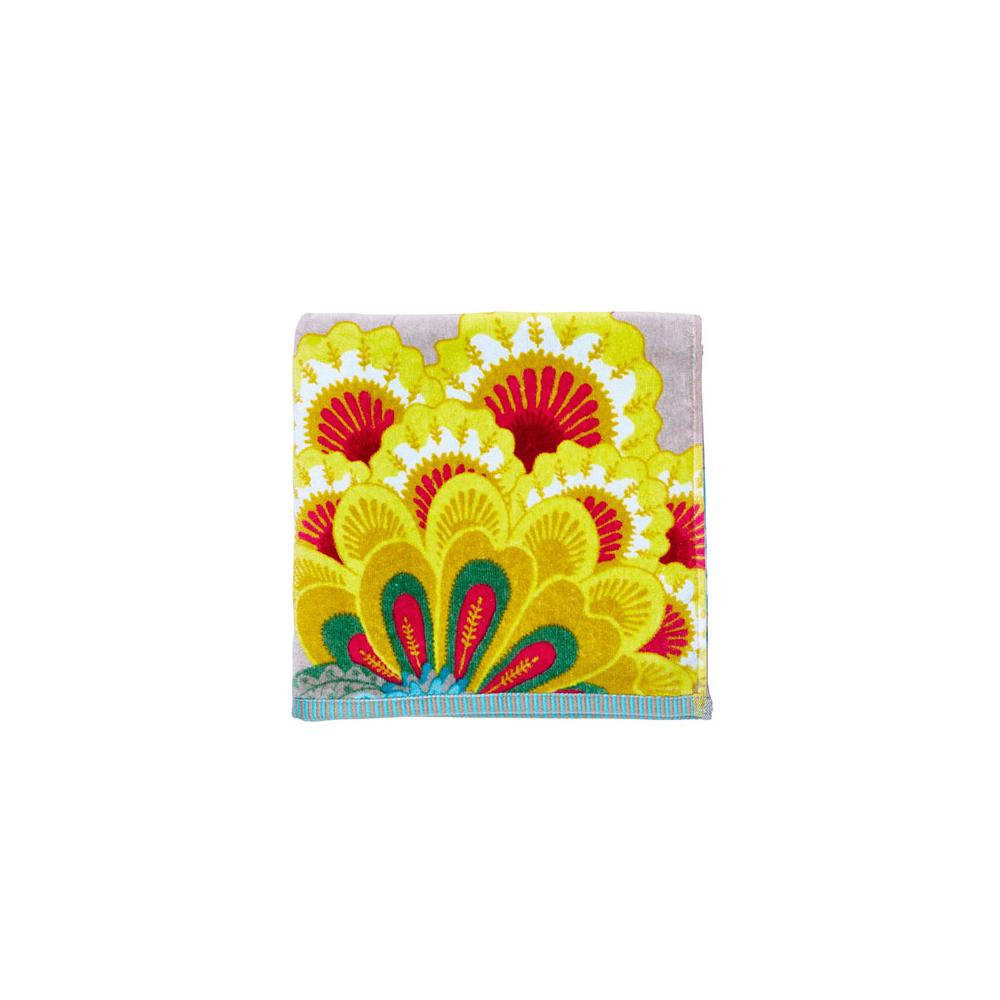 Floral Fantasy khaki suuri käsi- ja kasvopyyhe/kylpypyyhe