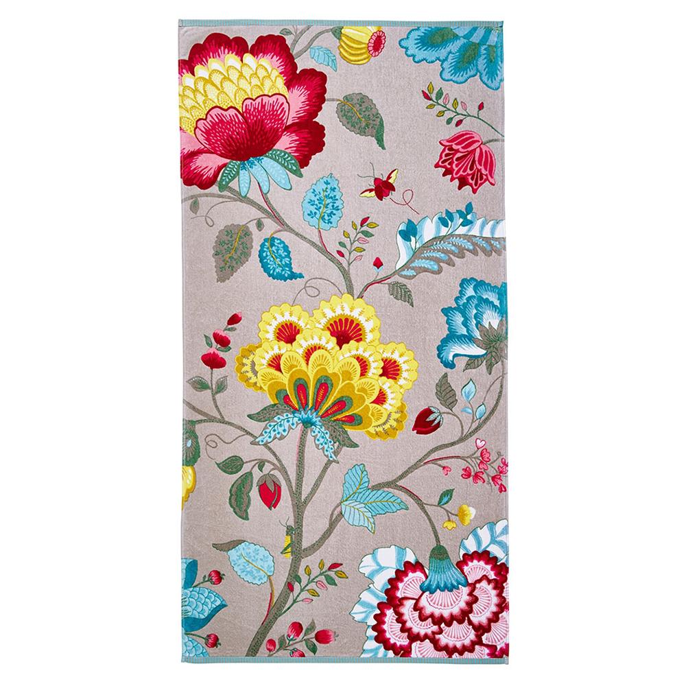Floral Fantasy khaki kylpypyyhe