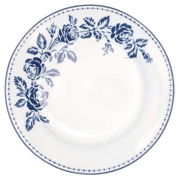 """Greengate lautanen """"Fleur"""" sininen ø 20 cm"""