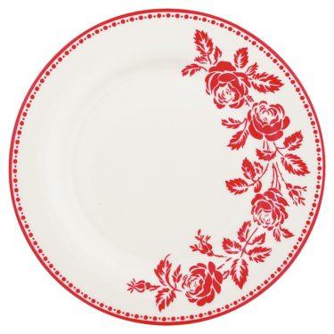 """Greengate lautanen """"Fleur"""" punainen ø 20 cm"""