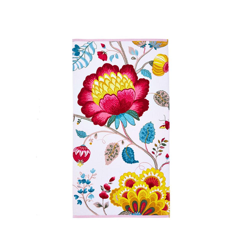 Floral Fantasy valkoinen suuri käsi- ja kasvopyyhe/kylpypyyhe