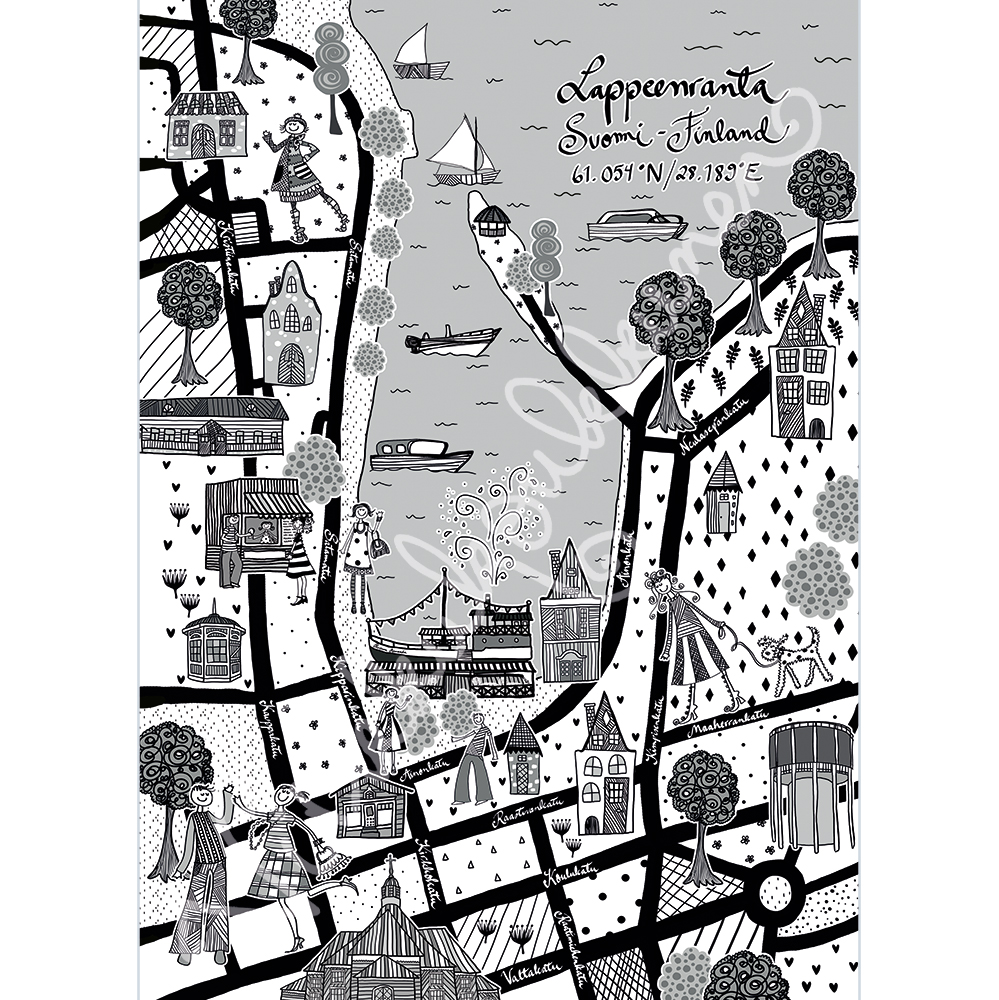 "Postikortti ""Lappeenranta"" 517"