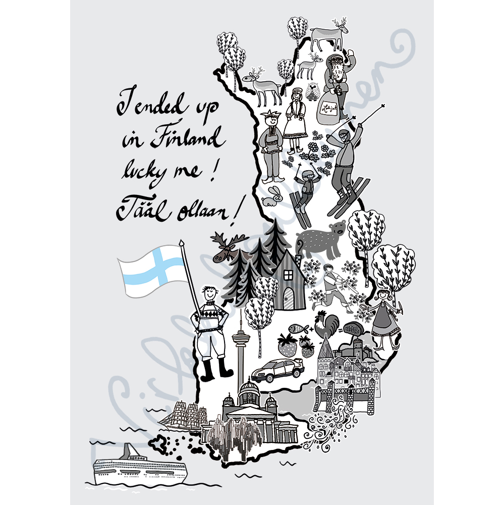 "Postikortti ""I ended up in Finland!"" 521"