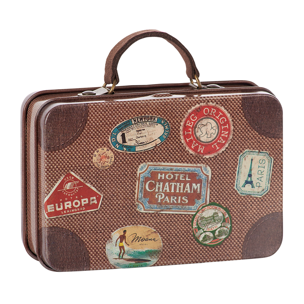 """Maileg metallinen matkalaukku """"Maailmanmatkaaja"""""""