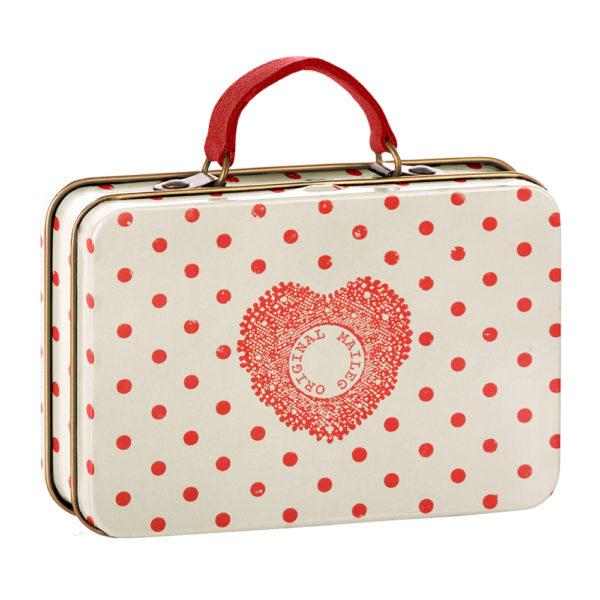"""Maileg metallinen matkalaukku """"Punapilkku"""""""