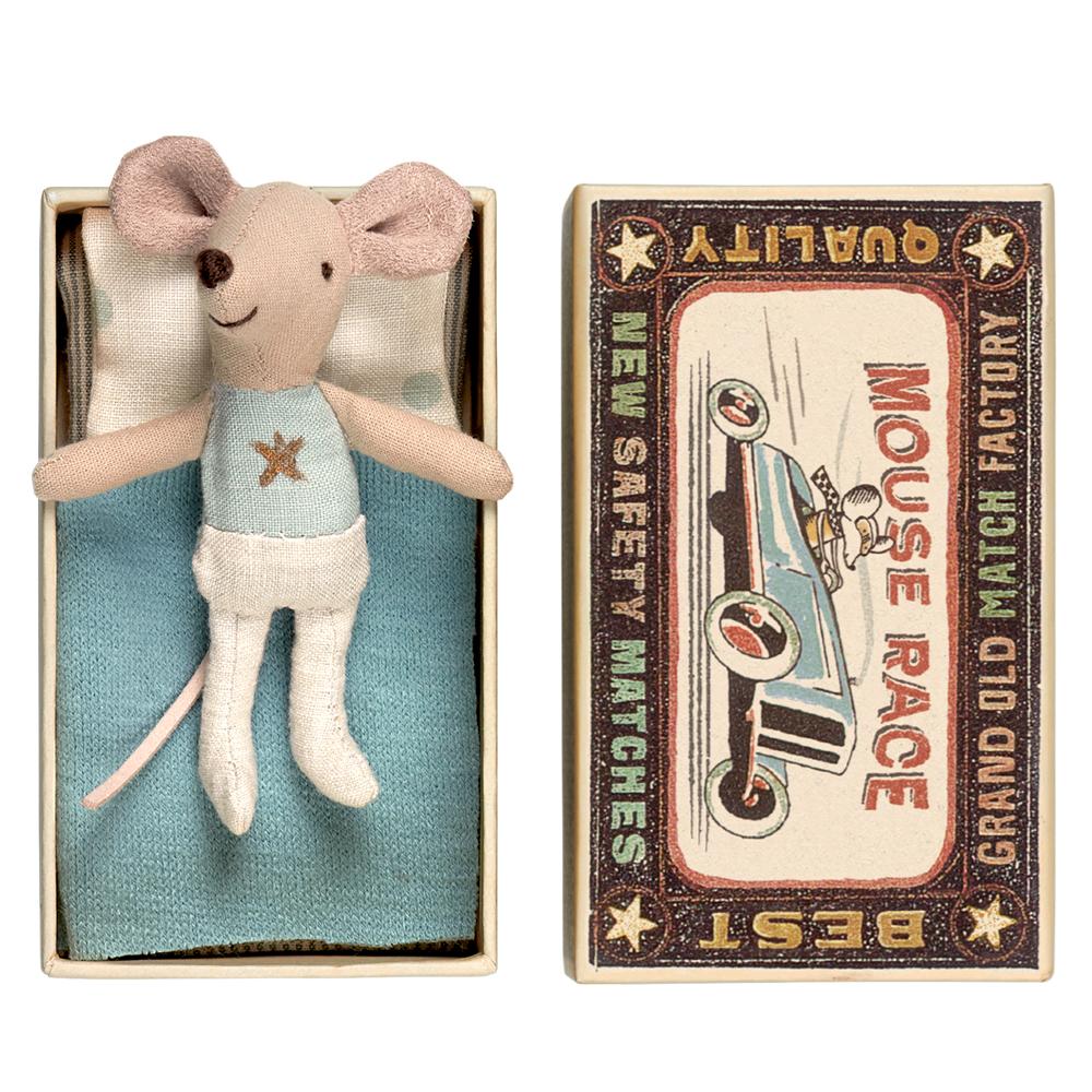 """Maileg hiiri """"Pikkuveli"""" ja laatikko"""