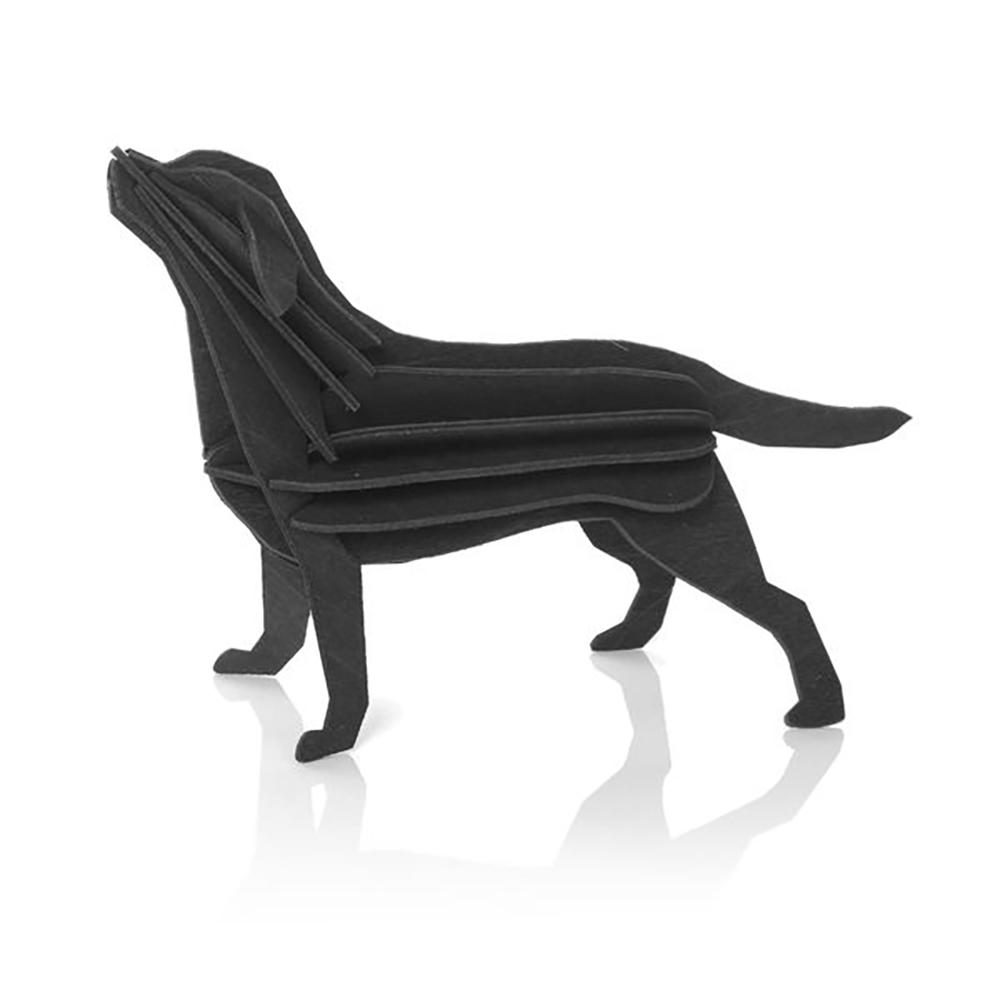 3D-palapelikortti musta labradorinnoutaja 15 cm