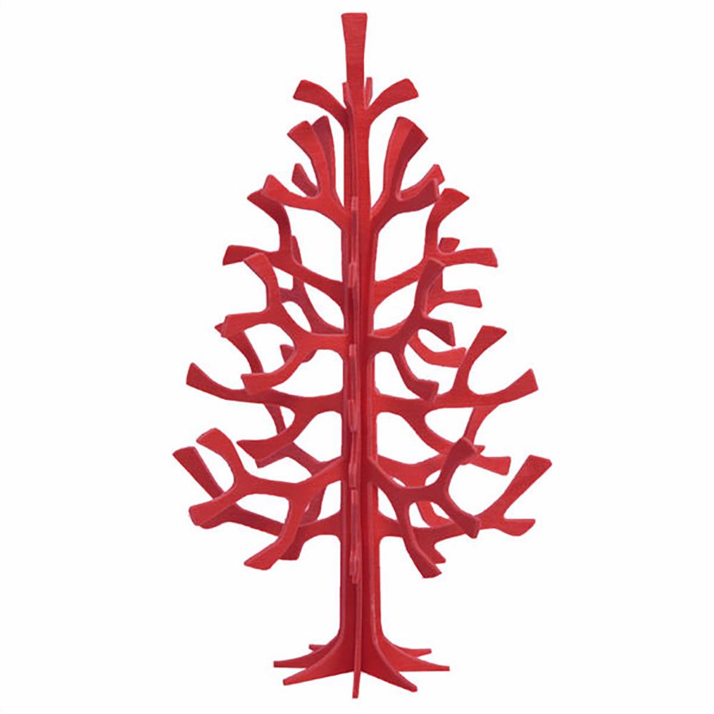 3D-palapelikortti punainen kuusi 14 cm