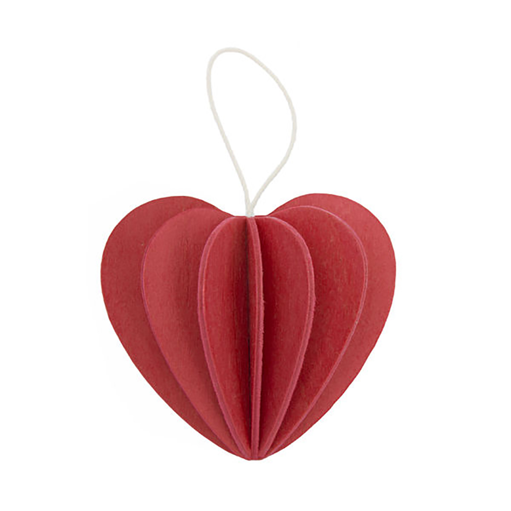 3D-palapelikortti kirkkaanpunainen sydän 6,8 cm