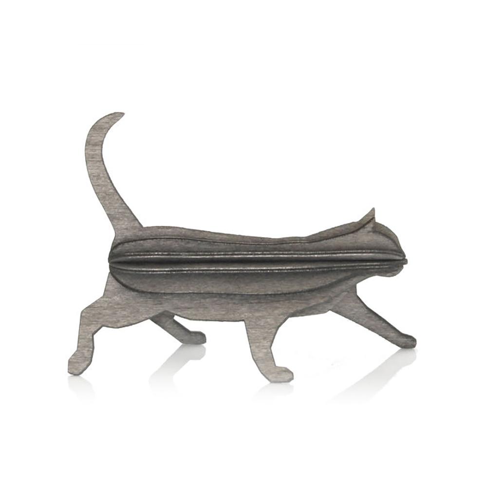 3D-palapelikortti harmaa kissa 12 cm