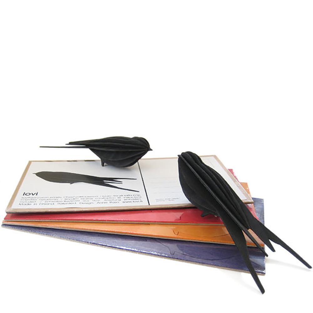 3D-palapelikortti musta pääskynen 15 cm